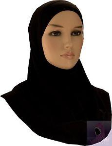 Hijab Muslim Headwear Scarf for Ladies Islamic Dress Black – aljawahir 3866bd16a53